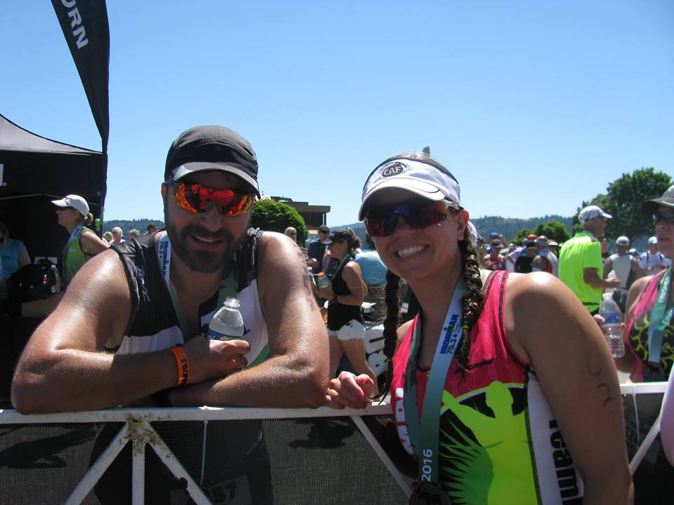 Zach and I post IM70.3 CDA
