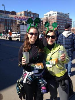 Jessica and I after walking the Running o' the Green 7K in Denver in March of 2013 before I started running