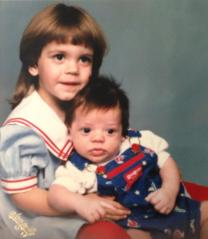 me and my brother when he was just a baby
