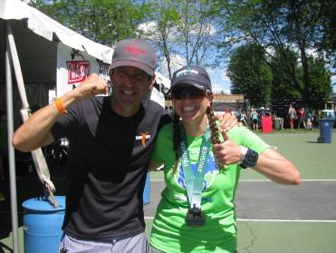 Coach Mark Sortino and I at the Coeur d'Alene 70.3 in 2016