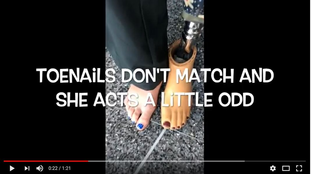 "screen shot of the point in the rap where Zach says ""Toenails don't match and she acts a little odd"""
