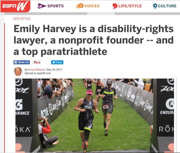 screen shot of ESPNW article
