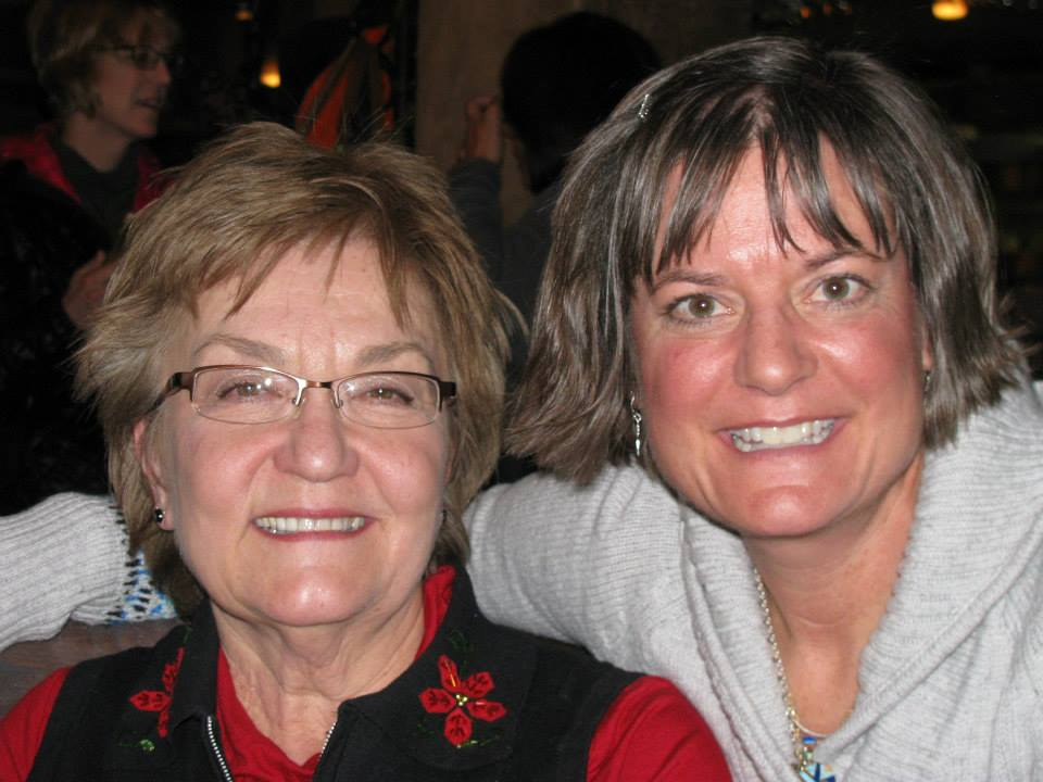 Karen and Sheryl together during a family Christmas gathering
