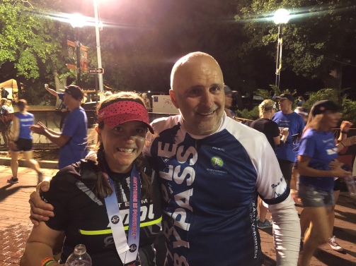 Me and Steve at the finish line after we were done