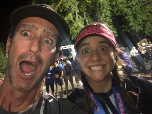 Mark and me after the finish of IM Boulder 2018