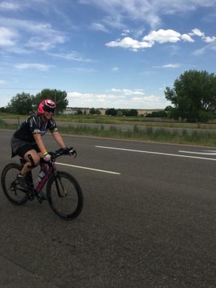 Me on my bike at IM Boulder 2018