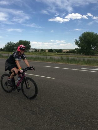 Me on my bike at IM Boulder 2018