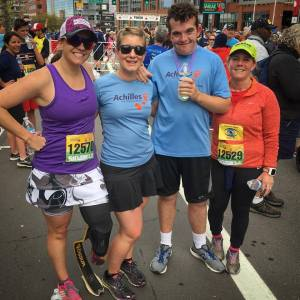 Me, Jessica, Ben, and another friend at the Cherry Creek Sneak in 2017