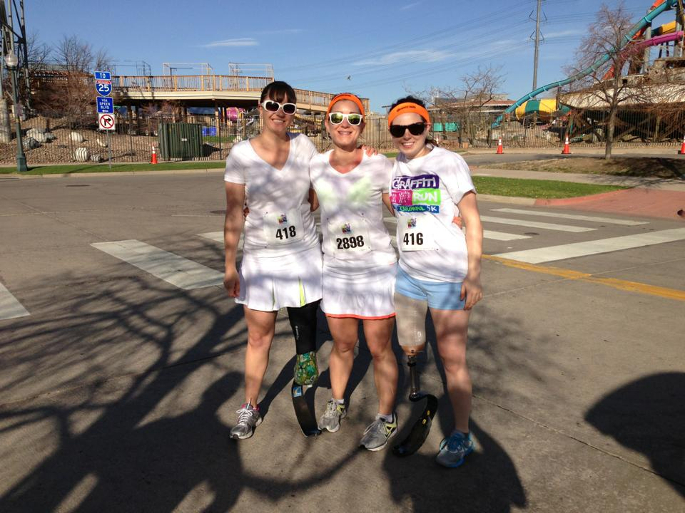 Me, Jessica, and Whitney before the Graffiti Run 5K in 2013
