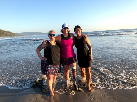Standing, stress-free, at the water's edge with Jen & Jen in Costa Rica